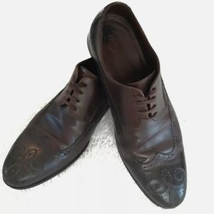 Hugo Boss Wing Tip Oxford Shoes Size 7.5 Brown